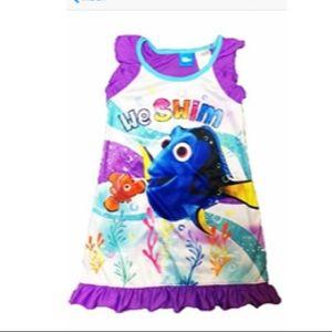 Finding Nemo Toddler Gotls Sleep Gown